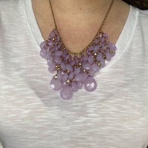 Purple Statement Necklace - Natasha